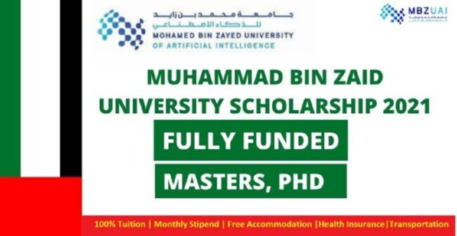 Muhammad Bin Zaid University Scholarships 2021