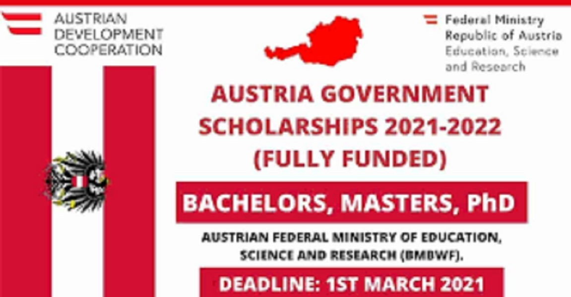 Austria Government Scholarship 2021 Fully Funded