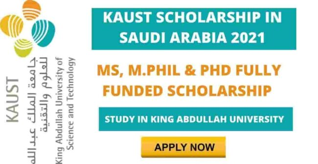 King Abdullah University Scholarship 2021