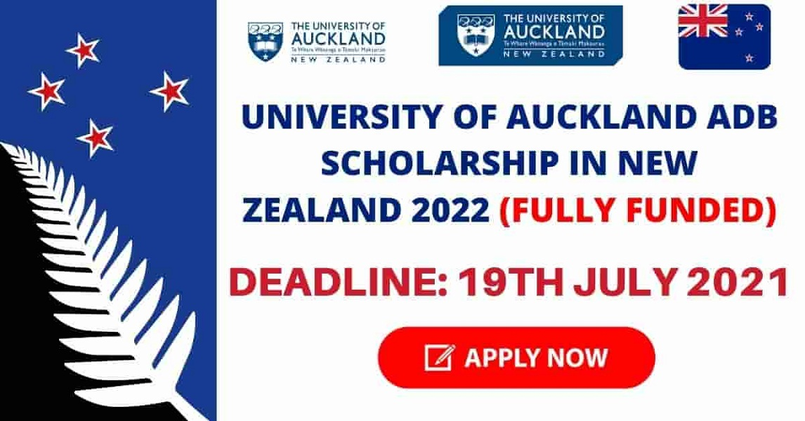 University of Auckland Scholarships 2021-22 in New Zealand (Funded)